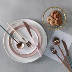 로체 로즈골드 커트러리 11종 5color 선택