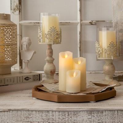 흔들리는 촛불 LED 무빙 캔들 3size