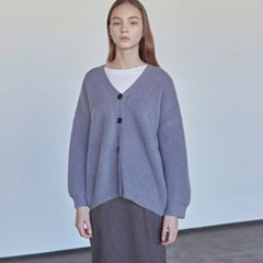 WOOL LOOSE KNIT CARDIGAN_PURPLE