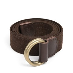 CHAMUDE D-RING BELT (dark brown)