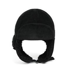 PL CORDUROY TRAPPER HAT (black)