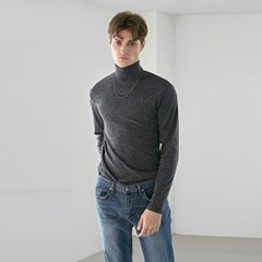 WARMER HIGH NECK KNIT_CHARCOAL