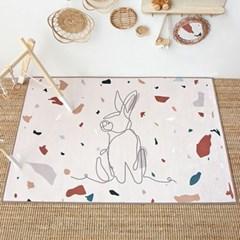 아이방 동물 러그 토끼 100x150_(1002961)