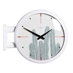 (ktk141)심플 화이트양면시계 (선인장)_(52196)