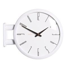 (ktk143)심플 화이트양면시계 (A7)_(52194)