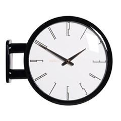 (ktk144)심플 블랙양면시계 (A7)_(52193)