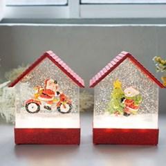 크리스마스 레드하우스 LED 워터볼 오르골 (3type)_(1819609)