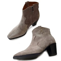 kami et muse Western style leather ankle boots_KM19w215