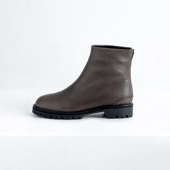 Chunky Sole Ankle Boots_Khaki Grey