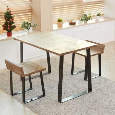 에쉬 원목테이블 1300 2인용 4인용 원목식탁 테이블