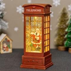 LED 크리스마스 캐럴 워터볼 전화부스 [산타클로스]_(11914748)