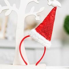 크리스마스 스팡클 산타모자머리띠_(11913044)