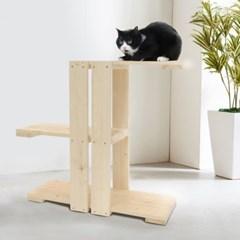 원목 미니 캣타워 고양이 면줄 스크래쳐 소형 타워