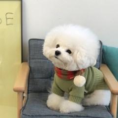 [mungmoong] Wool 스트라이프 폼폼 목도리 (빨강색)