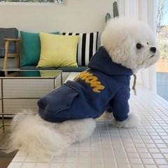 [mungmoong] Mignon 난로 후드 티셔츠 (블루)