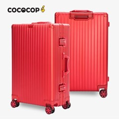 코코캅 델라2 26인치 수화물 레드 알루미늄 100% 여행용 캐리어