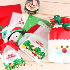 크리스마스 포장지 포장봉투 선물포장 5종