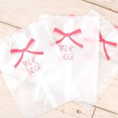 핑크리본 포장지 포장봉투 11x15cm 1매