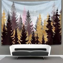 태피스트리 벽장식 패브릭포스터 - 가을숲 (150x130cm)