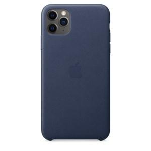 iPhone 11 Pro Max 가죽 케이스 - 미드나이트 블루