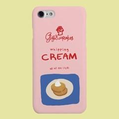 [헬로래빗]휘핑케이크 핑크 하드 핸드폰 케이스