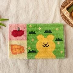 hobbyful 반곰이의 추억여행 스킬자수 카펫매트