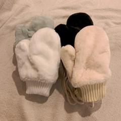 극세사 밍크퍼 커플 장갑 벙어리 장갑