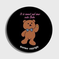 lettering bear - Black(스마트톡)