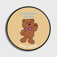 lettering bear - beige(스마트톡)