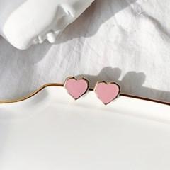 러블리 마이 러브 하트 데일리 귀걸이(2color)_love heart earring