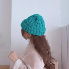 알파카 꽈배기 비니 남성 여성 비니 모자 5color