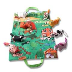 도도코 아기 바스락 헝겊책 촉감놀이 매트 농장동물