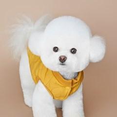 피치 누빔 퀼팅 강아지 패딩 (Yellow Color) S~2XL