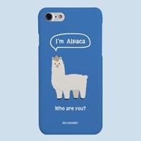 [헬로래빗]알파카 블루 하드 핸드폰 케이스