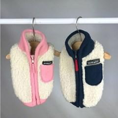그로우 뽀글이 조끼/애견옷,애견의류,애견조끼