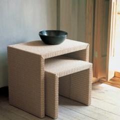 DNM_ST_0008 인테리어 디자인 천연라탄 사이드 테이블
