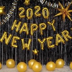 신년 파티장식세트 [해피뉴이어2020 골드블랙]_(11918576)