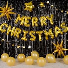크리스마스 파티장식세트 [메리스타 골드블랙]_(11918485)
