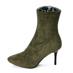 kami et muse Suede stiletto ankle heel boots_KM19w227