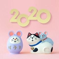 데꼴 2020 쥐띠 마스코트 피규어 새해 한정판