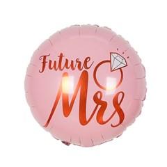 [브라이덜샤워 파티용품] Future Mrs 핑크 은박 라운드 풍선