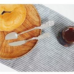 장미모양 잼칼 잼스푼 버터나이프