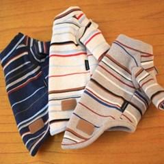 강아지 티셔츠 기모 스트라이프 6color
