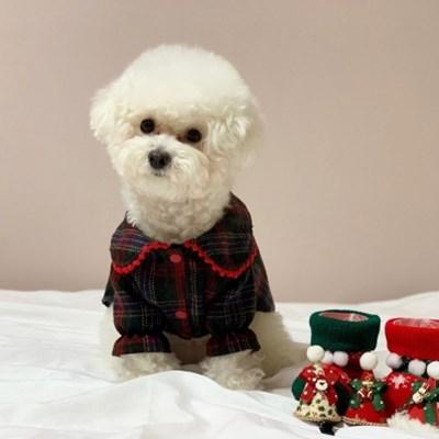 러블리댕댕 강아지 크리스마스원피스