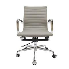 KI_C_0016 인테리어 디자인 사무용 회전 이동 의자 스틸 체어