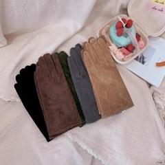 스웨이드 가죽 장갑 스마트폰 터치 여성 장갑 5color