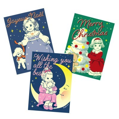 Risography greeting card_paper doll mate