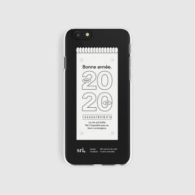 [스리살짝] new year 2020 (clear) 해피뉴이어 투명젤리 케이스