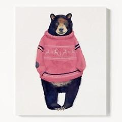 캔버스 동물 곰 그림 아이방 일러스트 액자 흑곰