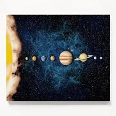 캔버스 우주 과학 일러스트 아이방 그림 액자 태양계